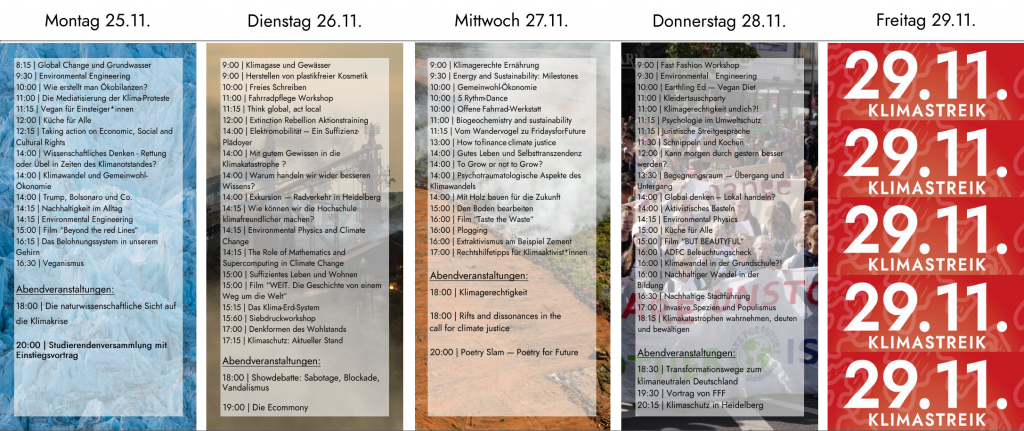 Programm Klimawoche Heidelberg Public Climate School Heidelberg