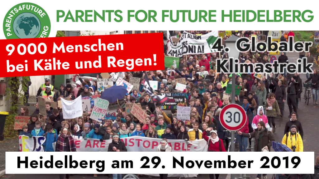 Video der Demo vom 29.11. in Heidelberg Fridays For Future