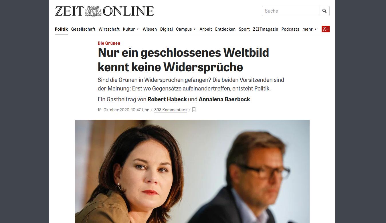 Brief and die Bundervorsitzenden Bündnis 90 / Die Grünen