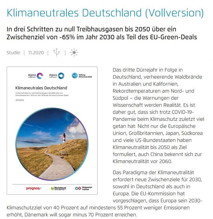 Agora Energiewende Klimaneutrales Deutschland